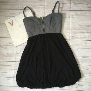 guess womens s bubble dress grey black retro polye